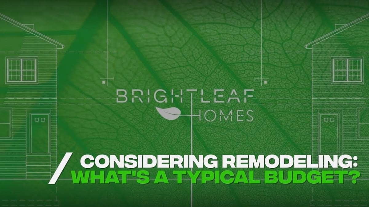 What Is A Typical Budget For Remodeling A Home?