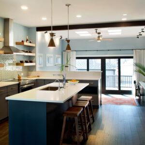 Modern Open Concept Kitchen with Island