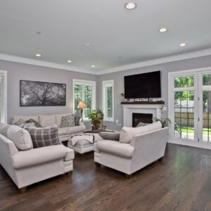 Open Concept Kitchen and Family Room | BrightLeaf Homes