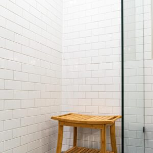Glass Enclosed Standing Shower